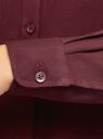 Блузка базовая из вискозы oodji #SECTION_NAME# (красный), 11411136B/26346/4900N - вид 5