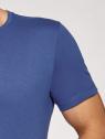 Футболка базовая oodji для мужчины (синий), 5B621002M/44135N/7500N