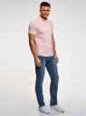 Рубашка базовая с коротким рукавом oodji #SECTION_NAME# (розовый), 3B240000M/34146N/4000N - вид 6