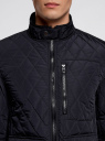 Куртка стеганая с накладными карманами oodji для мужчины (синий), 1L111020M/44330N/7900N