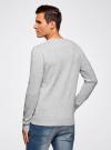 Пуловер базовый комбинированный oodji #SECTION_NAME# (серый), 4B212003M-1/21702N/2300M - вид 3