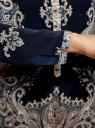 Блузка с этническим узором и отложным воротником oodji #SECTION_NAME# (синий), 21411144-3M/35542/7935E - вид 5