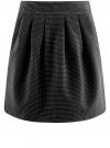 Юбка расклешенная с отделкой из искусственной кожи oodji #SECTION_NAME# (черный), 11600388-5/46966/2912O - вид 6