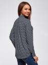 Блузка свободного силуэта с завязками oodji #SECTION_NAME# (синий), 21411094B/48854/7912R - вид 3