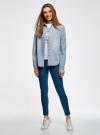 Рубашка джинсовая на кнопках oodji #SECTION_NAME# (синий), 16A09003-1/46360/7012F - вид 6