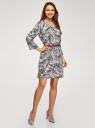 Платье вискозное с ремнем oodji #SECTION_NAME# (синий), 11900180B/42540/7933O - вид 2