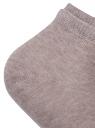 Комплект носков с двойной резинкой (3 пары) oodji для женщины (бежевый), 57102703T3/47469/27