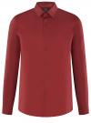 Рубашка базовая приталенная oodji для мужчины (красный), 3B140000M/34146N/4503N