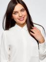 Блузка вискозная с нагрудным карманом oodji #SECTION_NAME# (слоновая кость), 13L11012-1/47741/1200N - вид 4