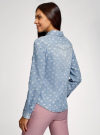 Рубашка джинсовая на кнопках oodji #SECTION_NAME# (синий), 16A09003-2/46361/7012D - вид 3