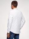Рубашка хлопковая с нагрудным карманом oodji #SECTION_NAME# (белый), 3L310178M/48974N/1079G - вид 3