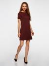 Платье трикотажное из фактурной ткани oodji #SECTION_NAME# (красный), 14000162-1/47198/4900N - вид 6