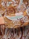 Блузка из вискозы с принтом oodji #SECTION_NAME# (бежевый), 21411144-4/26346/5762E - вид 5