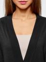 Кардиган без застежки с декоративными карманами oodji #SECTION_NAME# (черный), 73212397/24526/2900N - вид 4
