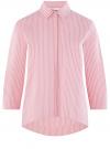 Рубашка свободного силуэта с удлиненной спинкой oodji #SECTION_NAME# (красный), 11411149/45387/4310S