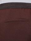 Брюки укороченные на эластичном поясе oodji #SECTION_NAME# (коричневый), 11706203-5B/14917/3900N - вид 5