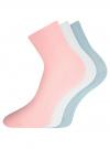 Комплект безбортных носков (3 пары) oodji для женщины (разноцветный), 57102801T3/48022/7 - вид 2