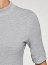 Платье трикотажное с воротником-стойкой oodji #SECTION_NAME# (серый), 14001229/47420/2000M - вид 5