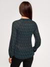 Блузка гофрированная с завязками oodji #SECTION_NAME# (черный), 11414005/46166/2975F - вид 3