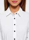 Блузка прилегающего силуэта с ремнем oodji для женщины (белый), 11410013-1B/19678/1000N