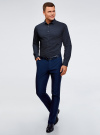 Рубашка приталенная в горошек oodji #SECTION_NAME# (синий), 3B110016M/19370N/7912D - вид 6