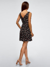 Платье из струящейся ткани с бантом на спине oodji #SECTION_NAME# (черный), 11900181-2B/35271/2941F - вид 3