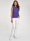 Блузка базовая без рукавов с воротником oodji #SECTION_NAME# (фиолетовый), 11411084B/43414/8300N - вид 6