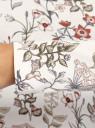 Водолазка хлопковая oodji для женщины (белый), 15E02001B/46147/1254F