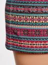 Юбка трикотажная с этническим принтом oodji для женщины (красный), 14101045-1/27310/4529J