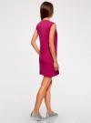 Платье из ткани пике oodji #SECTION_NAME# (розовый), 14005074-1B/46149/4700N - вид 3