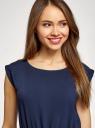 Платье вискозное без рукавов oodji #SECTION_NAME# (синий), 11910073B/26346/7900N - вид 4