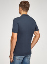 Поло из ткани пике с воротником-стойкой oodji для мужчины (синий), 5B412008M/39570N/7900N