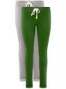 Комплект спортивных брюк (2 пары) oodji #SECTION_NAME# (серый), 16701010T2/46980/2369N