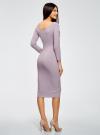 Платье облегающее с вырезом-лодочкой oodji #SECTION_NAME# (фиолетовый), 14017001-6B/47420/8000M - вид 3