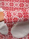 Худи с фигурными карманами oodji #SECTION_NAME# (красный), 16902014-1/27310/1245J - вид 5