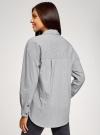 Рубашка oversize с нашивками oodji #SECTION_NAME# (серый), 13K11004-2/45387/2910S - вид 3
