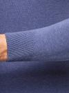 Джемпер базовый с круглым воротом oodji для мужчины (синий), 4B112003M/34390N/7501M - вид 5
