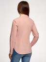 Рубашка принтованная с карманами oodji #SECTION_NAME# (розовый), 13K03002-2B/45202/4110S - вид 3