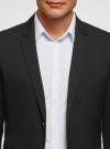 Пиджак базовый приталенный oodji #SECTION_NAME# (черный), 2B420026M/48330N/2900O - вид 4