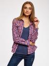 Рубашка в клетку с карманами oodji #SECTION_NAME# (красный), 11400433-1/43223/7445C - вид 2