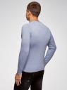 Пуловер с хлопковой вставкой на груди oodji #SECTION_NAME# (синий), 4B212006M/39245N/7001B - вид 3