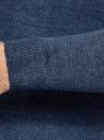 Джемпер базовый с круглым воротом oodji #SECTION_NAME# (синий), 4B112011M/49683N/7575O - вид 5