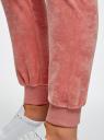 Брюки спортивные на завязках oodji #SECTION_NAME# (розовый), 16701051B/47883/4B01N - вид 5