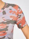 Футболка прямого силуэта с круглым вырезом oodji для женщины (разноцветный), 24701007-1/45475/5466O
