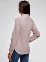 Рубашка хлопковая с нагрудным карманом oodji #SECTION_NAME# (розовый), 13K03014/18193/4010B - вид 3