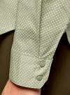 Рубашка базовая с нагрудными карманами oodji #SECTION_NAME# (зеленый), 11403222B/42468/6612D - вид 5