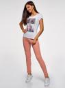 Комплект спортивных брюк (2 пары) oodji #SECTION_NAME# (разноцветный), 16701010T2/46980/5 - вид 6