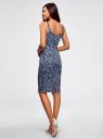 Платье-майка трикотажное oodji #SECTION_NAME# (синий), 14015007-3B/37809/7512F - вид 3