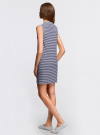 Платье из ткани пике oodji #SECTION_NAME# (синий), 14005074-1B/46149/7910S - вид 3