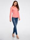 Рубашка приталенная с V-образным вырезом oodji #SECTION_NAME# (розовый), 11402092B/42083/4100N - вид 6
